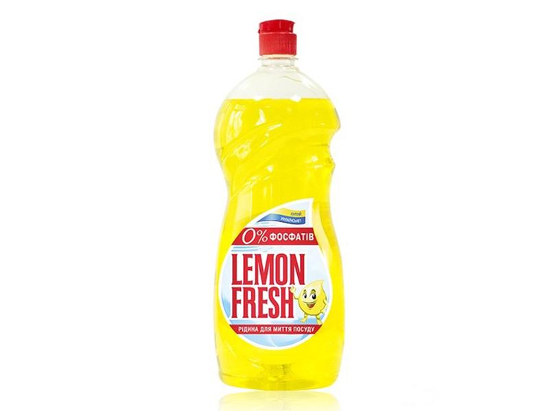 Засіб для миття посуди FRESH Lemon 1,5л без фосфатів