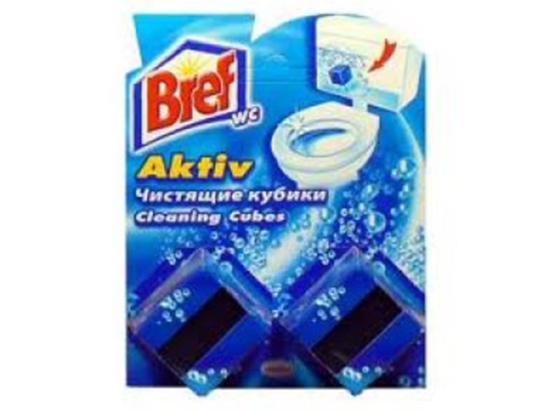 Засіб для чищення унітаза (бачка) Кубики Bref 2*50г