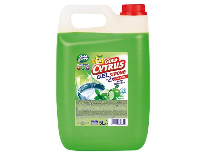Засіб для миття посуди Gold Cytrus 5л без фосфатів, зелений