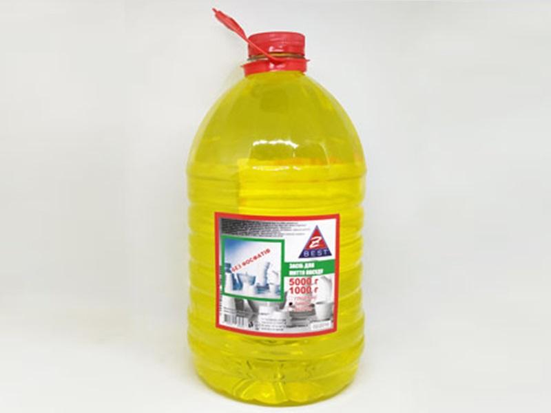 Засіб для миття посуди Z-BEST 5л, лимон