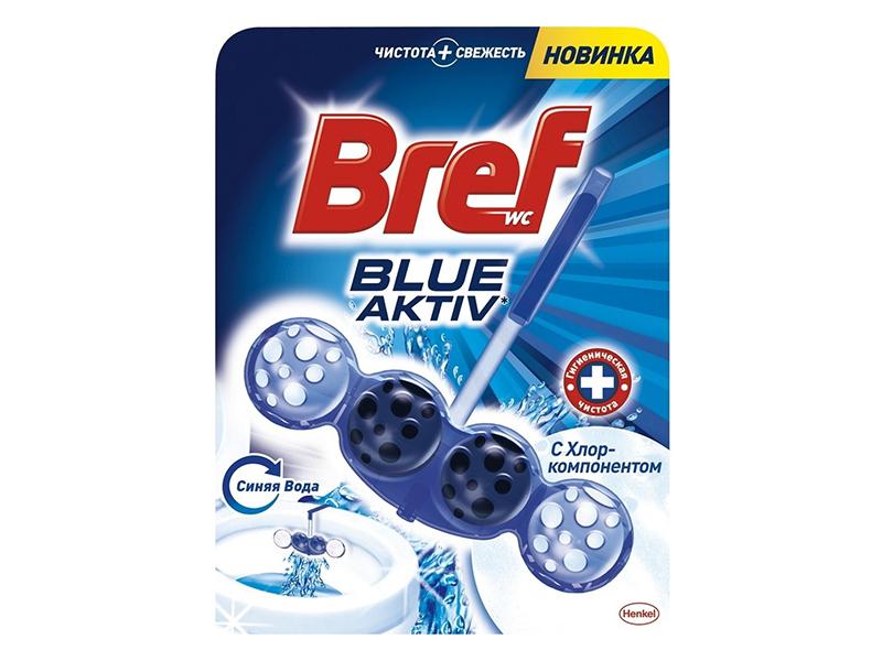 Засіб для чищення унітаза Bref с Хлор-компонентом 4-шарики 50мл