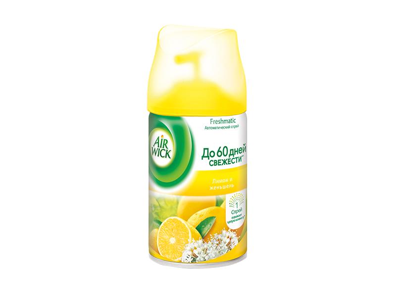 Змінний балон д/AIRWICK 250мл, лимон + женьшень