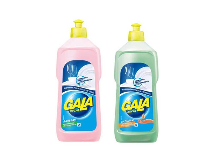 Засіб для миття посуди GALA бальзам 500г, з алоє, вітамін Е