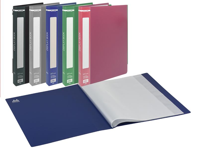 Папка з 40 файлами А4, пластик 700мкм, Buromax, асорті