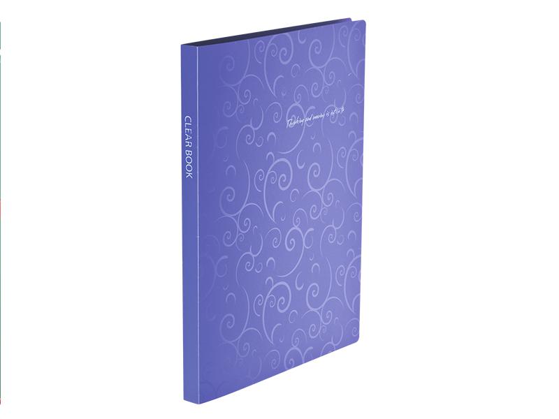 Папка з 20 файлами А4, пластик 600мкм, Buromax Barocco, фіолетовий