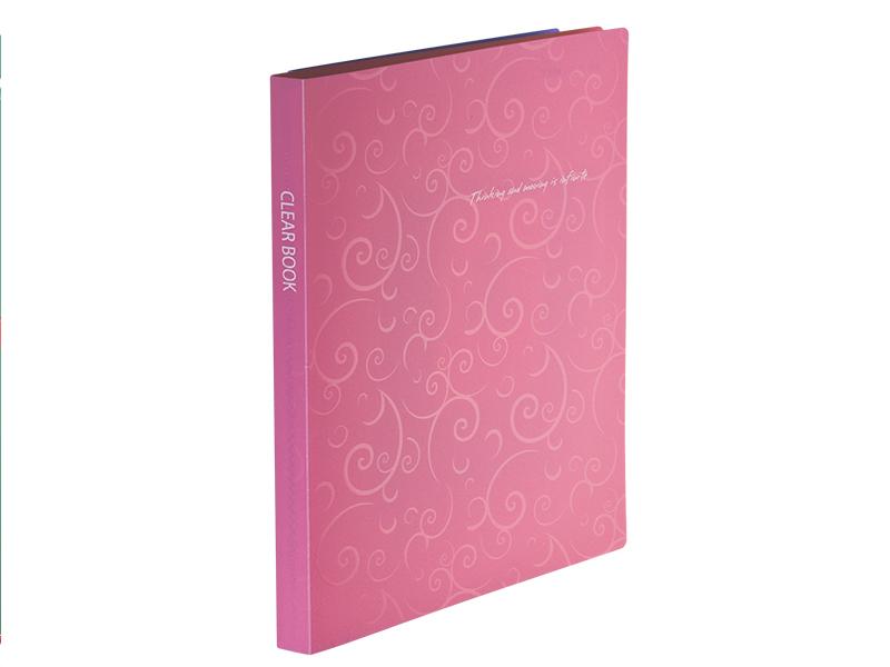 Папка з 20 файлами А4, пластик 600мкм, Buromax Barocco, рожевий