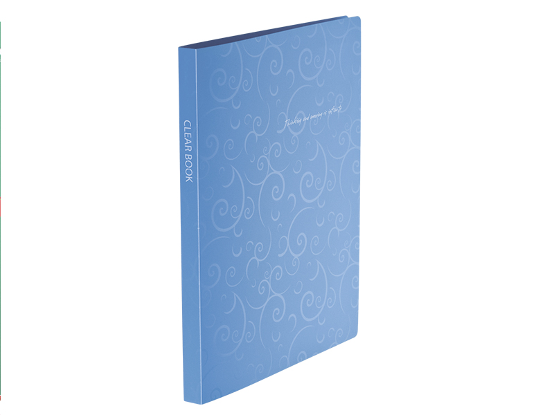 Папка з 20 файлами А4, пластик 600мкм, Buromax Barocco, блакитний