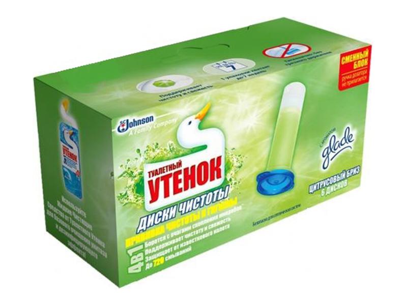 Засіб для чищення унітаза Диски чистоти Туалетный Утенок, цитрус