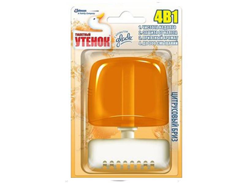 Засіб для чищення унітаза гель Туалетный Утенок 55мл з корзинкою, цитрус