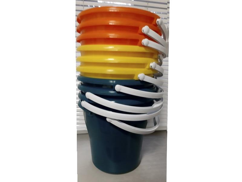 Відро пластикове кругле 10л харчове, без кришки, асорті