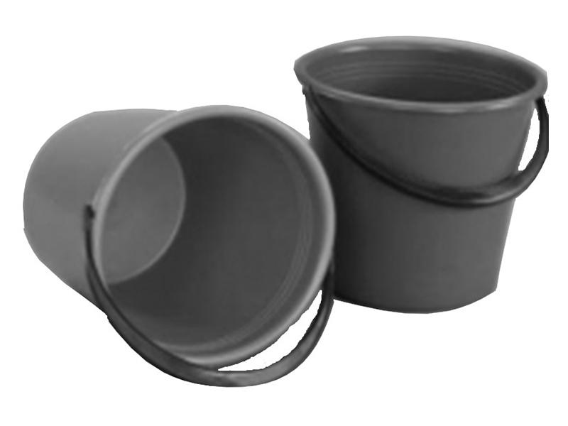 Відро пластикове кругле 10л господарче чорне