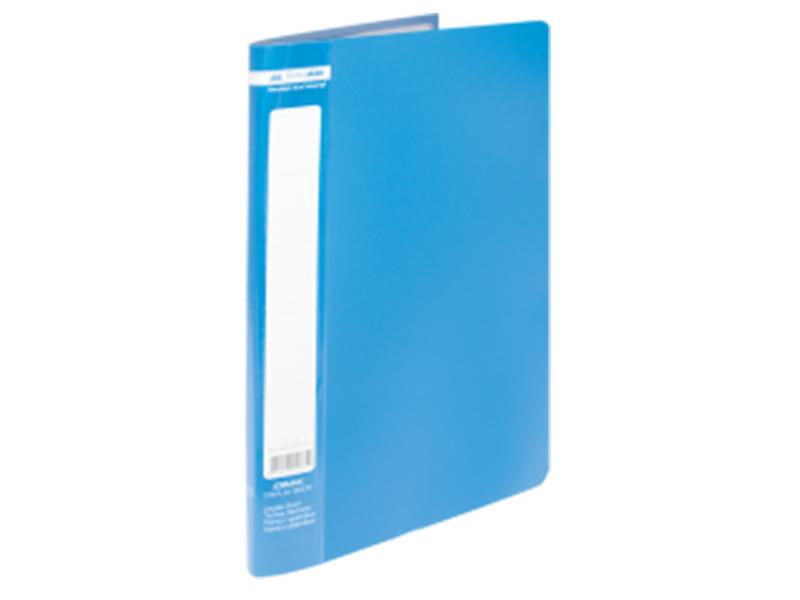 Папка з 10 файлами А4, пластик 450мкм, Buromax JOBMAX, синій