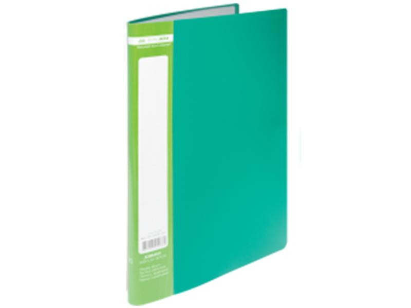 Папка з 10 файлами А4, пластик 450мкм, Buromax JOBMAX, зелений