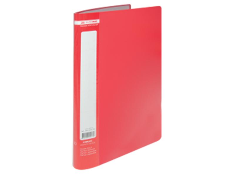Папка з 10 файлами А4, пластик 450мкм, Buromax JOBMAX, червоний