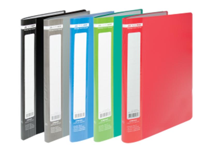 Папка з 10 файлами А4, пластик 450мкм, Buromax JOBMAX, сірий