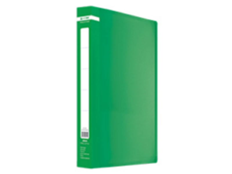 Папка з 20 файлами А4, пластик 450мкм, Buromax JOBMAX, зелений
