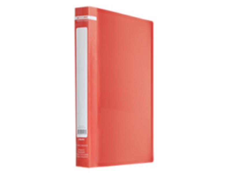 Папка з 20 файлами А4, пластик 450мкм, Buromax JOBMAX, червоний