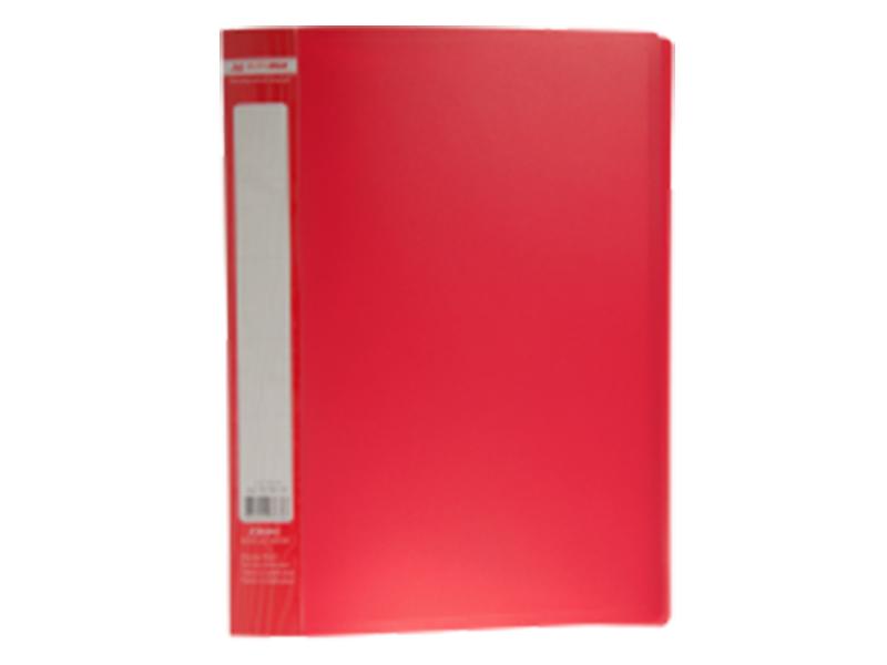 Папка з 30 файлами А4, пластик 450мкм, Buromax JOBMAX, червоний