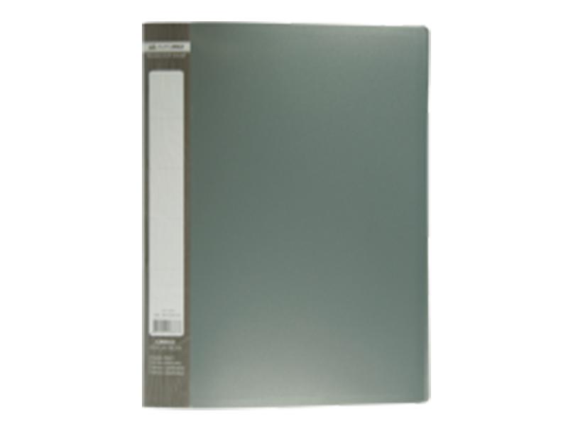 Папка з 30 файлами А4, пластик 450мкм, Buromax JOBMAX, сірий