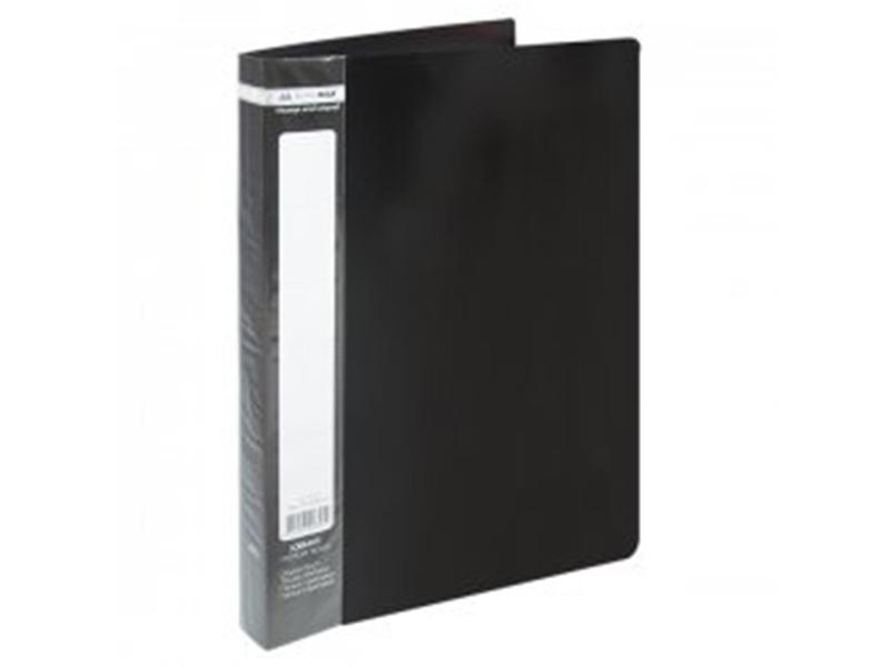 Папка з 40 файлами А4, пластик 500мкм, Buromax JOBMAX, чорний