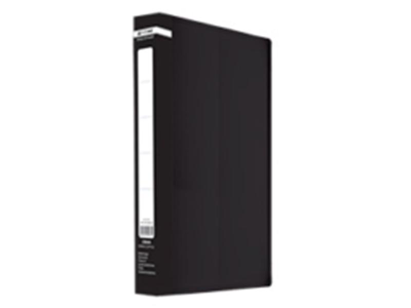 Папка з 60 файлами А4, пластик 500мкм, Buromax JOBMAX, чорний