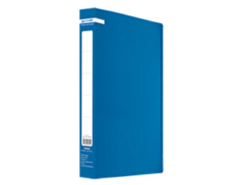 Папка з 60 файлами А4, пластик 500мкм, Buromax JOBMAX, синій