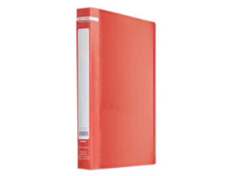 Папка з 60 файлами А4, пластик 500мкм, Buromax JOBMAX, червоний