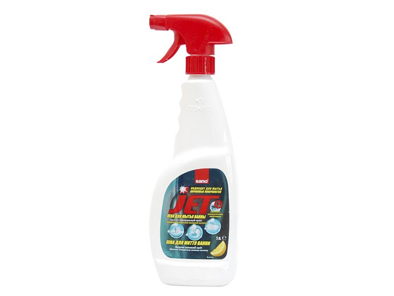 Засіб для акрилових ванн и душевих кабінок SANO 1000мл з розпилювачем