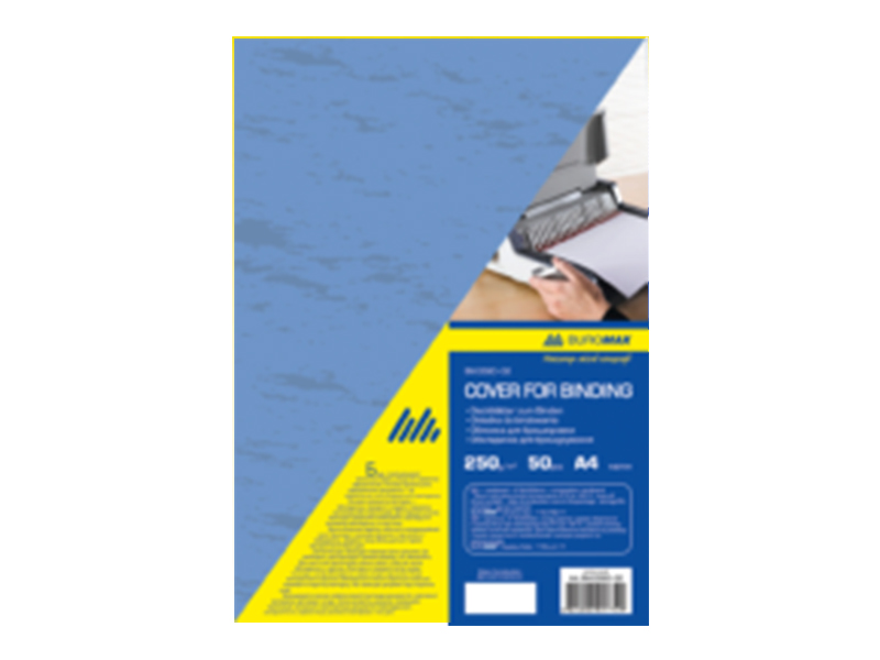 """Обложка картонная А4 250г """"под кожу"""", синий, 1шт (50шт/уп)"""