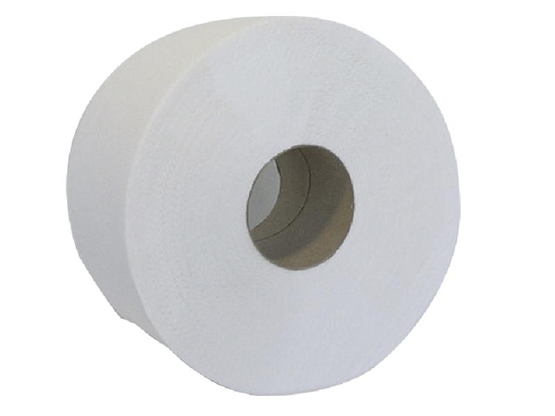 Туалетний папір в рулоні макулатурний 1шар/130м 1181відр. BUROCLIAN, сірий