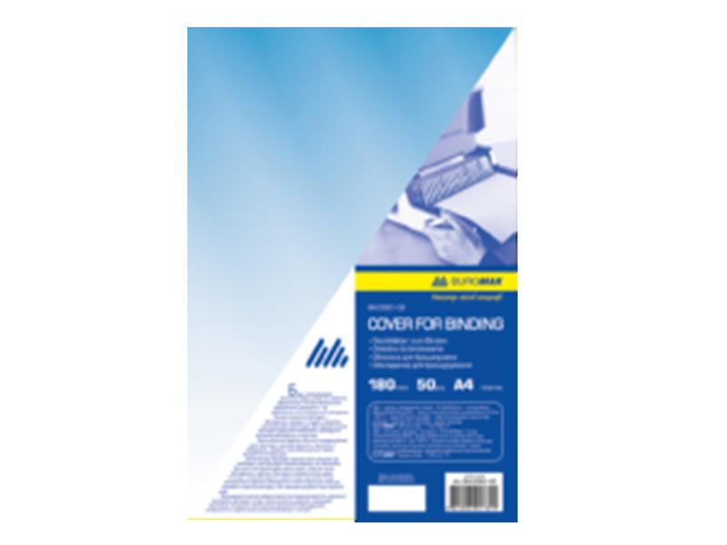Обложка пластиковая А4 180мкм 1шт (50шт/уп) прозрачная, синий