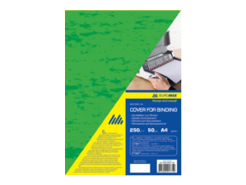 """Обложка картонная А4 250г """"под кожу"""", зеленый, 1шт (50шт/уп)"""