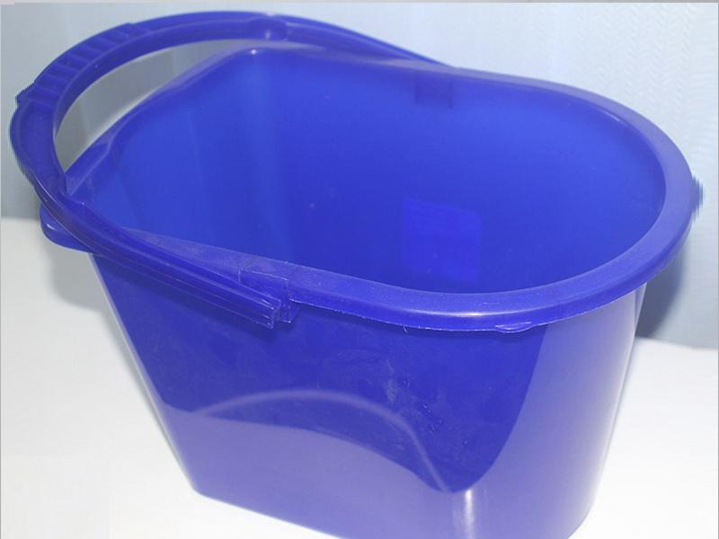 Відро пластикове прямокутне 14л, синє (Віджимн.мех. 06141-Л)
