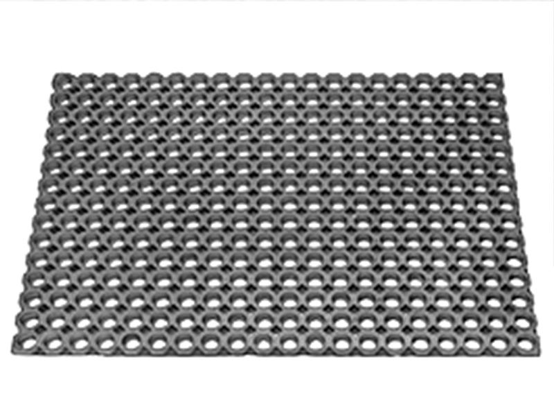 """Килимок гумовий 400х600мм з отворами """"Соти"""" (22мм), д/інтенсивн.експл."""