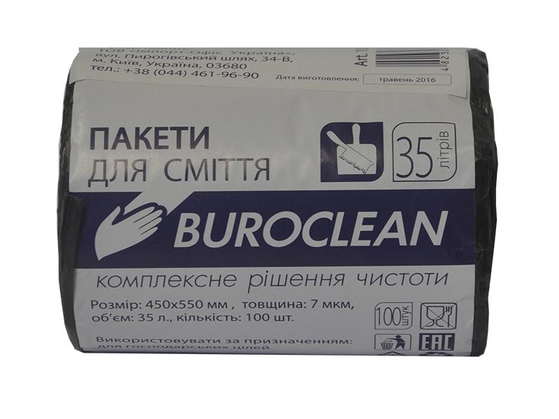 Мішки для сміття 35л 7мкм (HD) 100шт BUROCLIAN, чорні