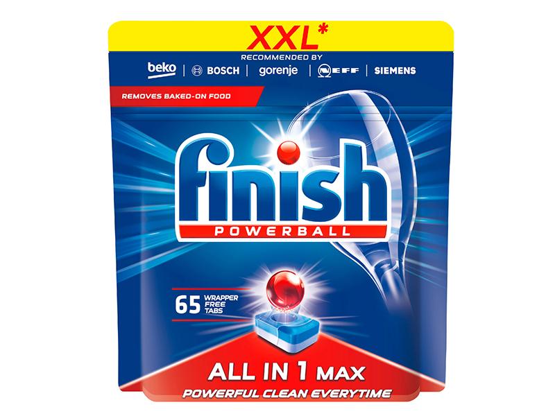 Засіб для посудомиючих машин в таблетках Finish ВСЕв1 65шт