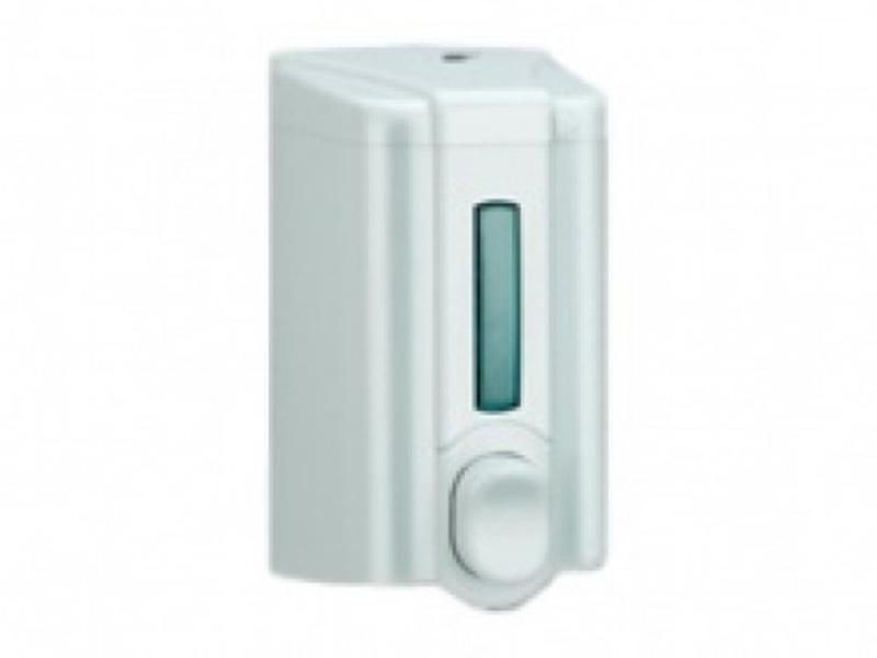 Дозатор рідкого мила пластиковий 0.5л Vialli S.2, білий