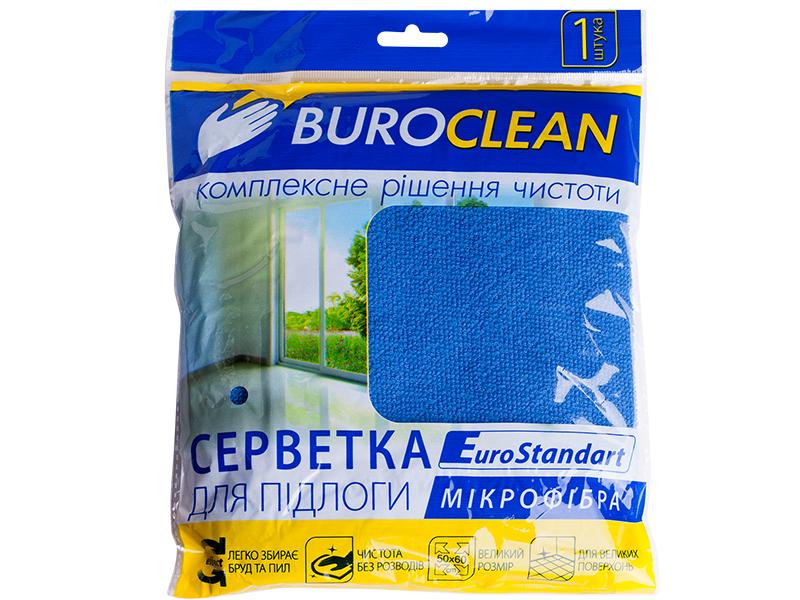 Серветка мікрофібра універсальна 50х60см BUROCLIAN XL 1шт, синій