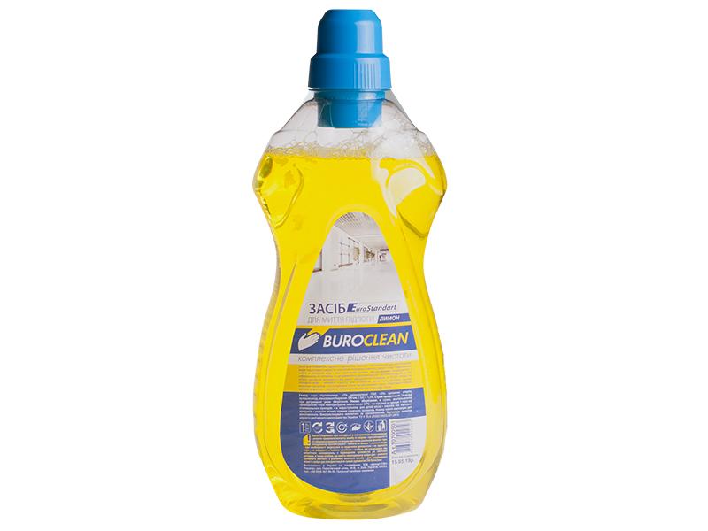 Засіб миючий для підлоги, інших поверхонь BUROCLIAN EuroStandart 1л, лимон