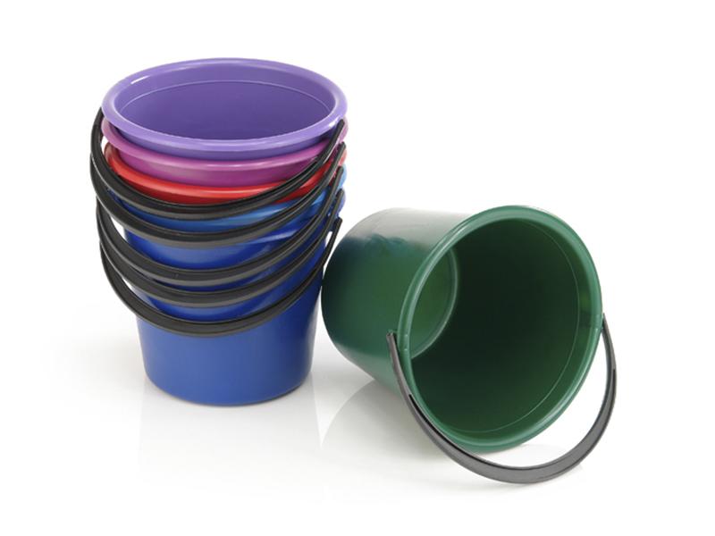 Відро пластикове кругле 10л харчове без кришки, асорті