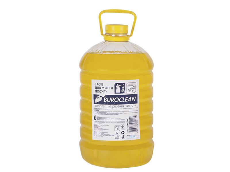Засіб для миття посуди BUROCLIAN ECO 5л, лимон