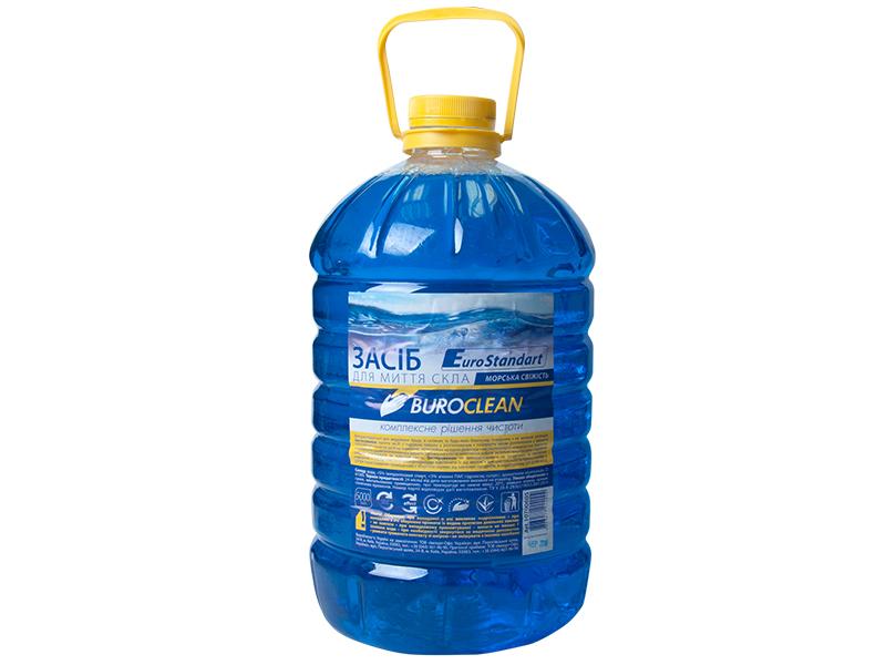Засіб для миття скла, інш.поверхонь BUROCLIAN 5л (нашат.спирт) Морська свіжість