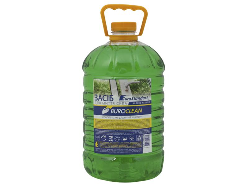 Засіб для миття скла, інш.поверхонь BUROCLIAN 5л (нашат.спирт) Яблоко зелене