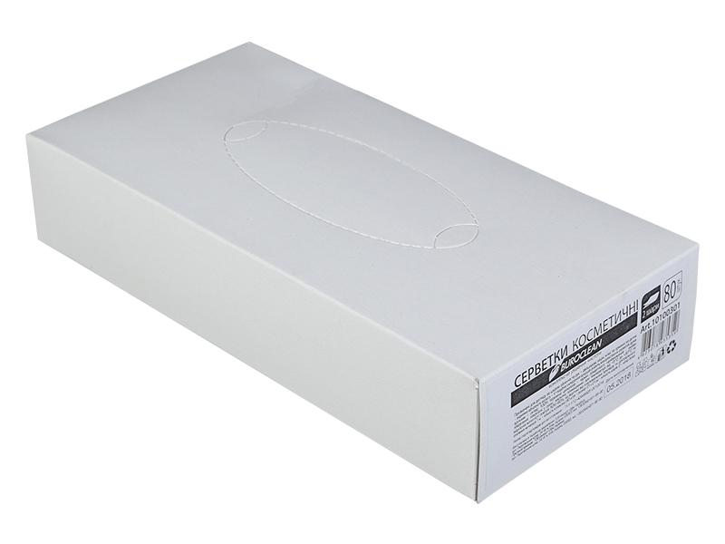 Серветки паперові (брикет) 21х21мм 2шар 80шт BUROCLIAN