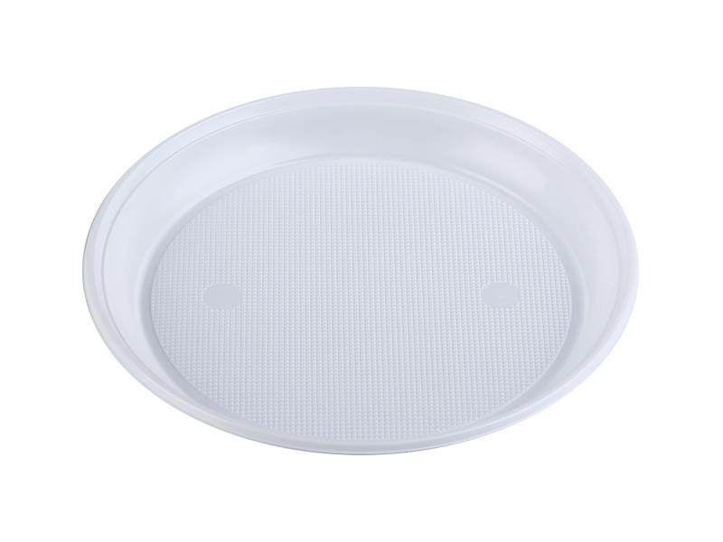 Тарілка пластикова d=20,5см 100шт BUROCLIAN, біла