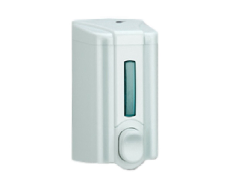 Дозатор рідкого мила 0.5л пластиковий білий Solaris S.2