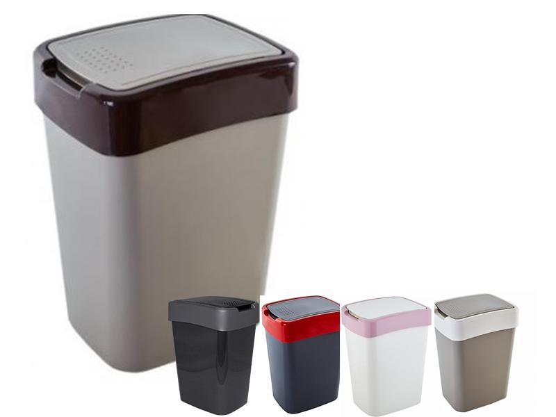 Корзина пластикова з гойдаючою кришкою 25л ЄВРО, асорті