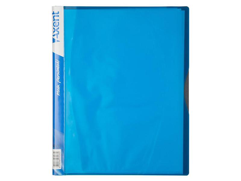 Папка з 40 файлами А4, пластик 700мкм, AXENT 1140, блакитний
