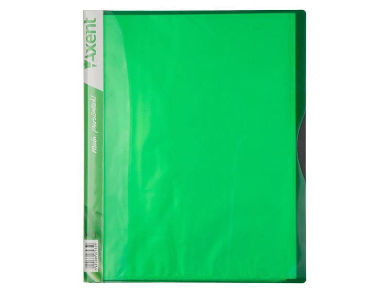 Папка з 40 файлами А4, пластик 700мкм, AXENT 1140, салатовий