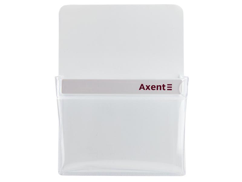 Магнітний тримач з ПВХ карманом Axent 90*120*25мм